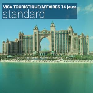 Visa touristique/affaires 14 jours standard