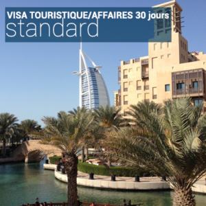 Visa touristique/affaires 30 jours standard