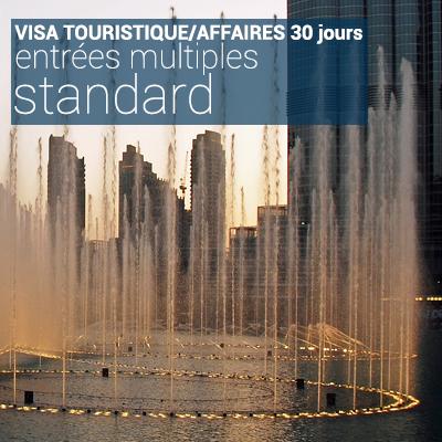Visa touristique/affaires 30 jours entrées multiples standard