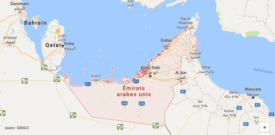 visa émirats arabes unis - visa pour Dubai : la carte